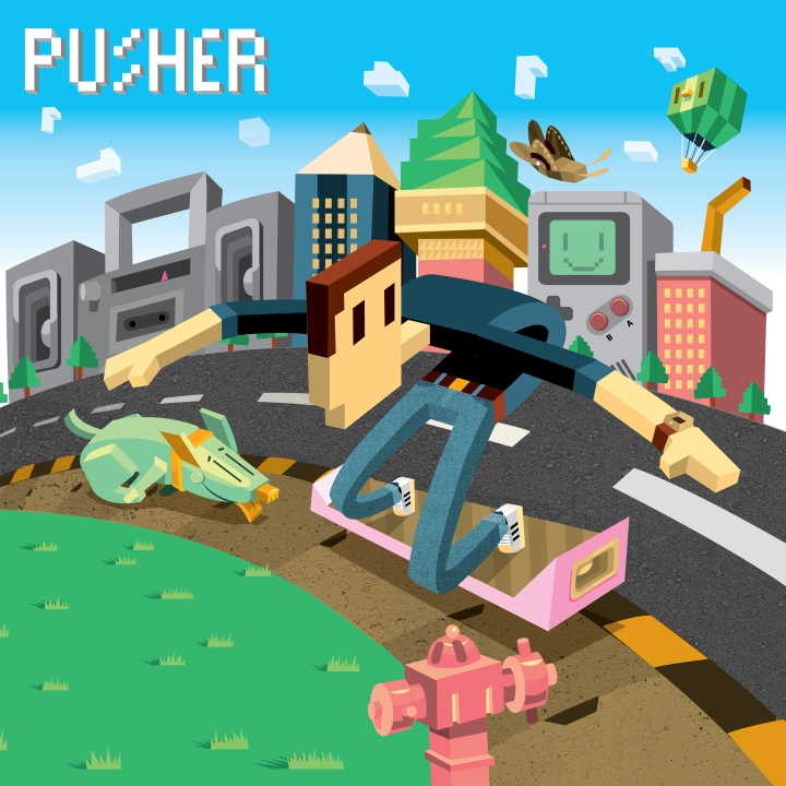 "The official single artwork for Pusher's ""Clear,"" featuring Mothica."