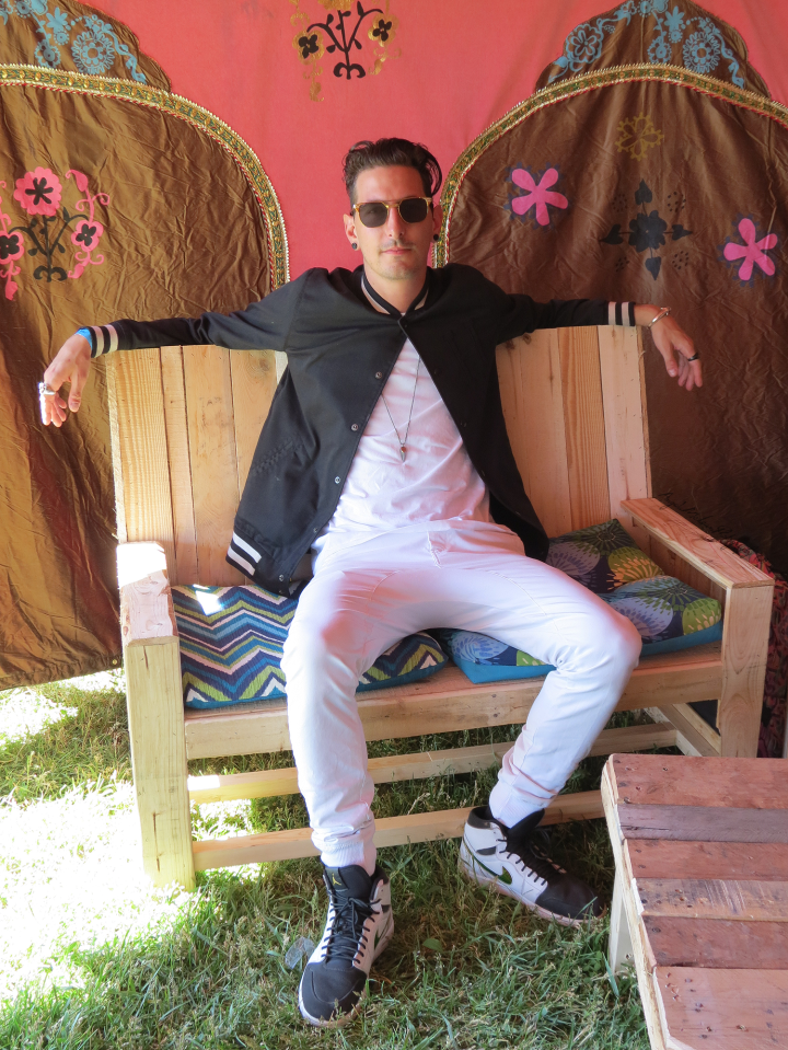 Shaun Frank backstage at Bestival Toronto. (Photo credit: Josie Mills)