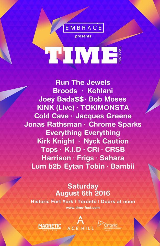 TIME Festival Full Lineup