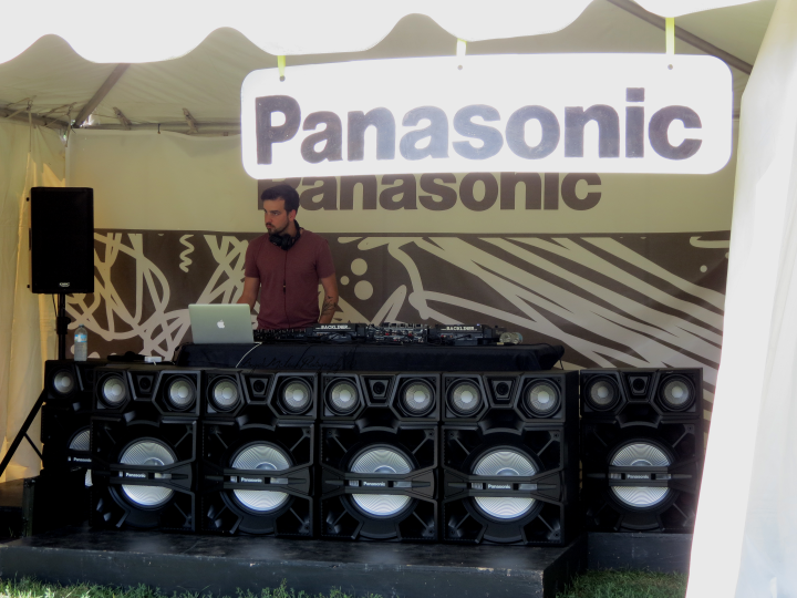The third Panasonic stage showcased up-and-coming electronic talent, including Hidden Kingdoms. (Photo credit: Angela McLean)