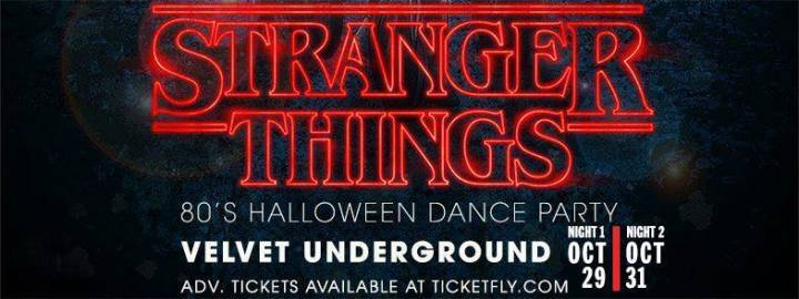 Stranger Things: '80s Halloween Dance Party
