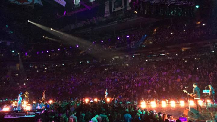 Hedley performing on stage at WE Day Family. (Photo credit: Sarah Chew/RUtv News)