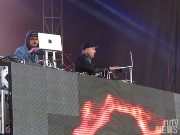 Toronto DJ duo Thugli on stage at 6 Fest. (Photo credit: Angela McLean/RUtv News)