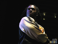 Rapper Pusha T on stage at 6 Fest. (Photo credit: Angela McLean/RUtv News)