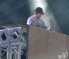 International superstar DJ, Diplo, on stage at 6 Fest. (Photo credit: Angela McLean/RUtv News)