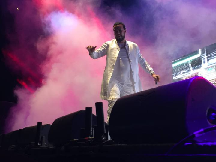 French Montana on stage at 6 Fest. (Photo credit: Nicole Di Donato/RUtv News)