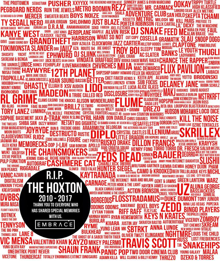 The Hoxton closing poster