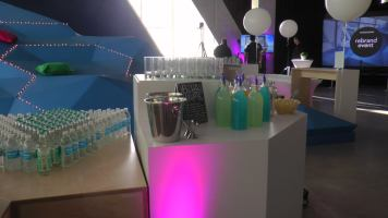 Blue Hawaii drink stations were available for guests to take advantage of. (Photo credit: Anna Cianni/RUtv News)