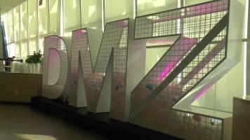 The DMZ sign drew eyes. (Photo credit: Anna Cianni/RUtv News)