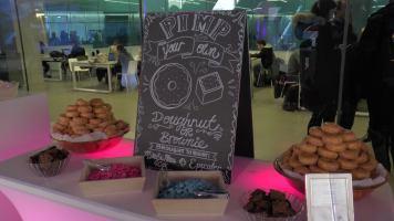 A DIY donut station was a welcome treat. (Photo credit: Anna Cianni/RUtv News)