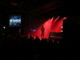 American rapper Ro Ransom rocked the Mod Club on Feb. 27 opening for pop star Dua Lipa. (Photo credit: Angela McLean/RUtv News)