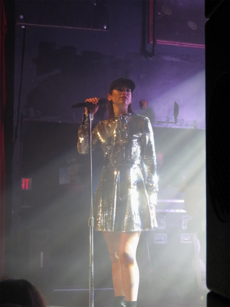 Dua Lipa rocked a super shiny mini dress for her Mod Club performance. (Photo credit: Rebecca Williamson/RUtv News)