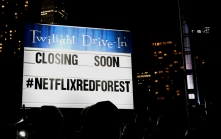 Netflix's Red Forest combined hit-shows Stranger Things and Riverdale into one installation. (Photo credit: Emma Sandri/RUtv News)