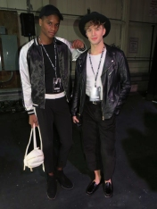 Fashion models Brent Williams and Taylor Buchko waiting for the show to start. (Photo credit: Jessica Tucciarone/RUtv News)