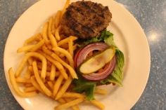 Fran's Riverdale-inspired homemade beef burger meal. (Photo credit: Jasmine Bala/RUtv News)
