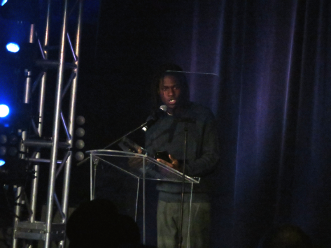 Daniel Caesar accepting award Canadian Radio Music Awards CMW