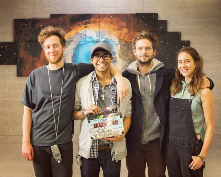 Behind the scenes of Clara - Nick Haight, Akash Sherman, Patrick J. Adams, Troian Bellisario