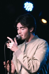 Greyson Chance at The Drake Underground on March 2. (Photo credit: Rebecca Williamson/RUtv News)
